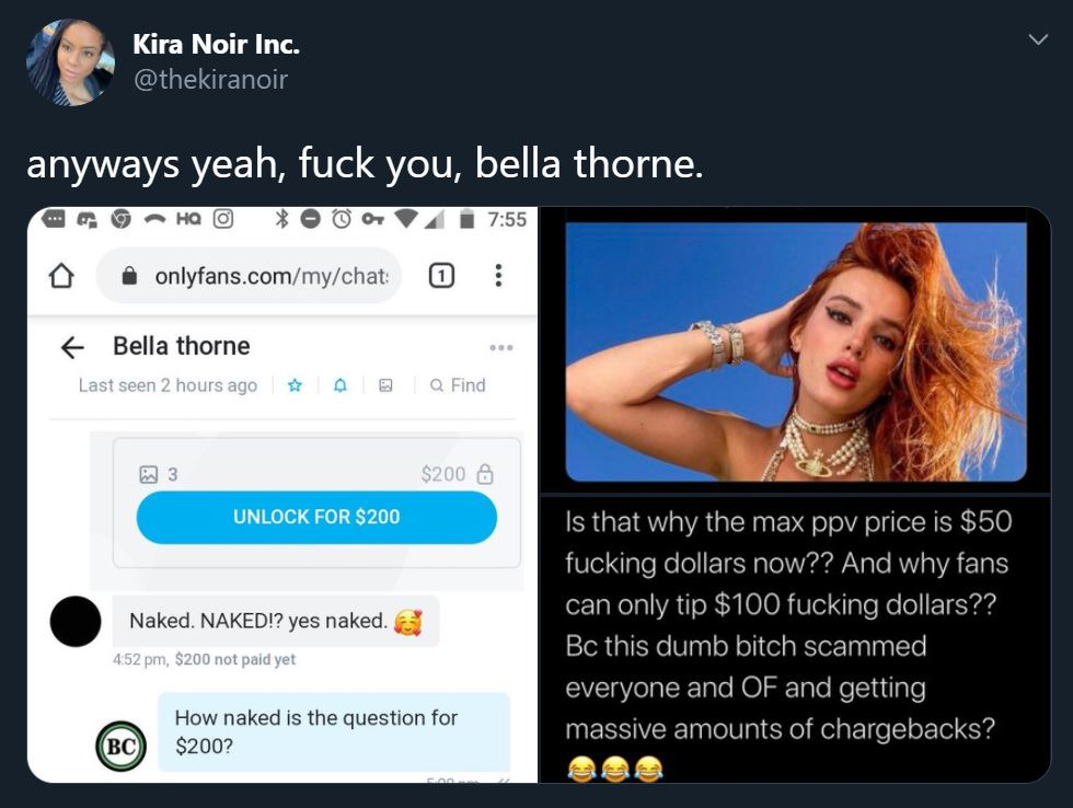 Did Bella Thorne Just Scam Users with Fake Nudes? Onlyfans Responds with Restrictions